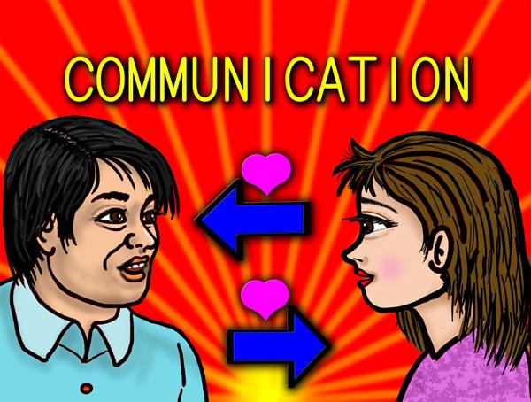 コミュニケーションのイメージ図。双方向が大切だと思う。