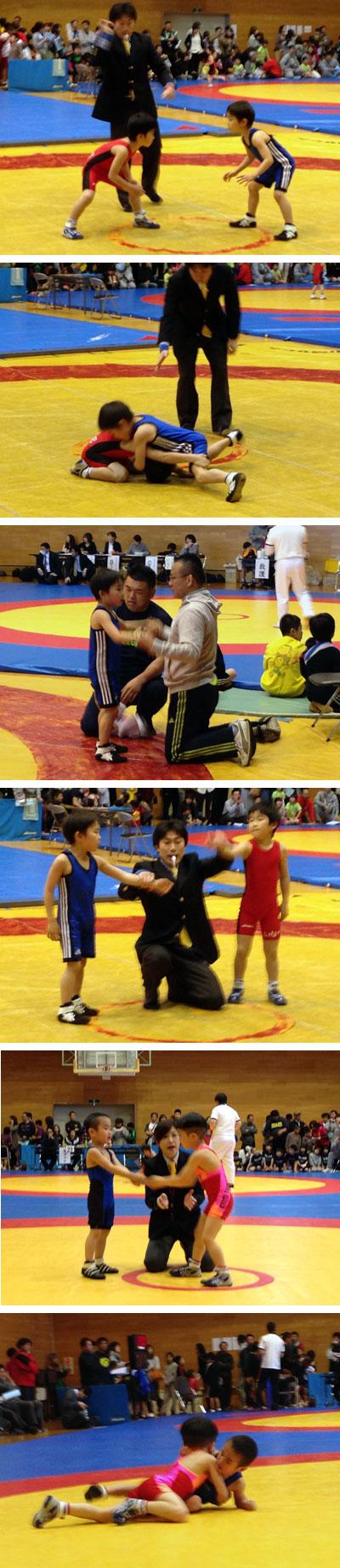 上3枚:長女の長男の試合。下2枚:長女の二男の試合スナップ。