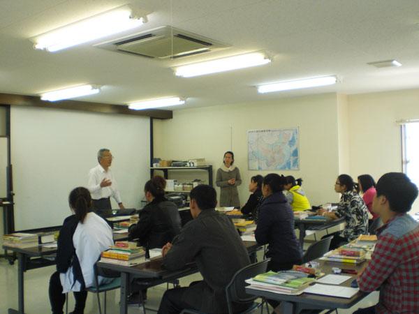 中国人研修生に対する2時間の講座。