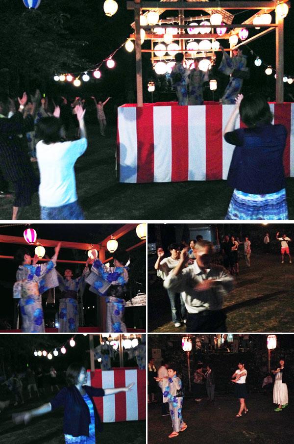 平泉寺神明神社での盆踊り。