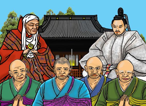 アニメに登場する平泉寺の僧達と寛永寺創建の天海僧正と徳川家光