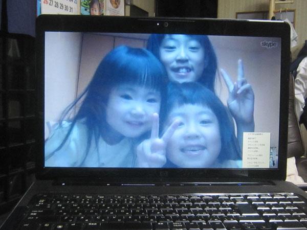『爺ちゃん勉強』の後の、横浜の孫たちとの楽しい語らい。