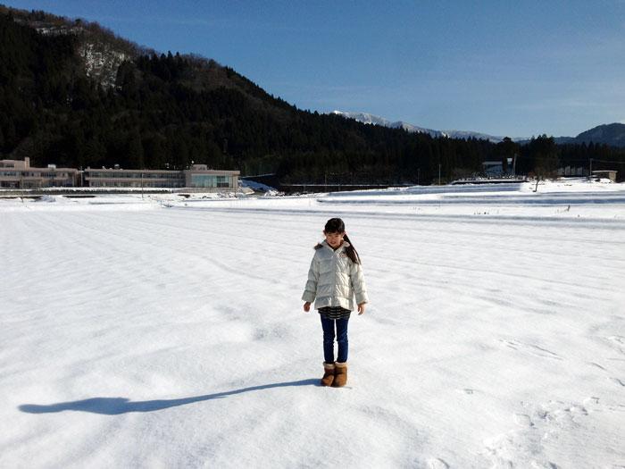 白銀の世界を歩くのは気持ちのよいものだ。年に数回しかない「おそらん」に乗れる日だ。