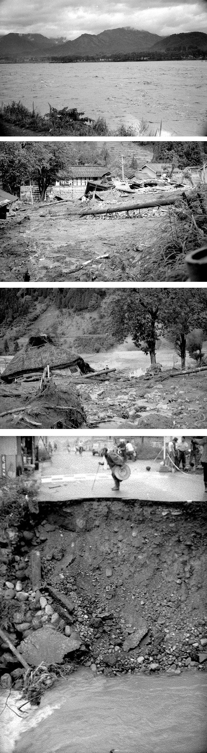 度々、大洪水が勝山を襲い、甚大な被害をもたらした。