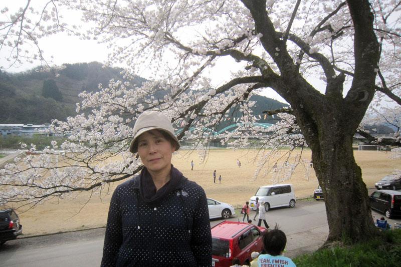 空には鯉のぼり、そして独特のアーチを描く勝山橋、満開の桜……。正にウオーキング日和。