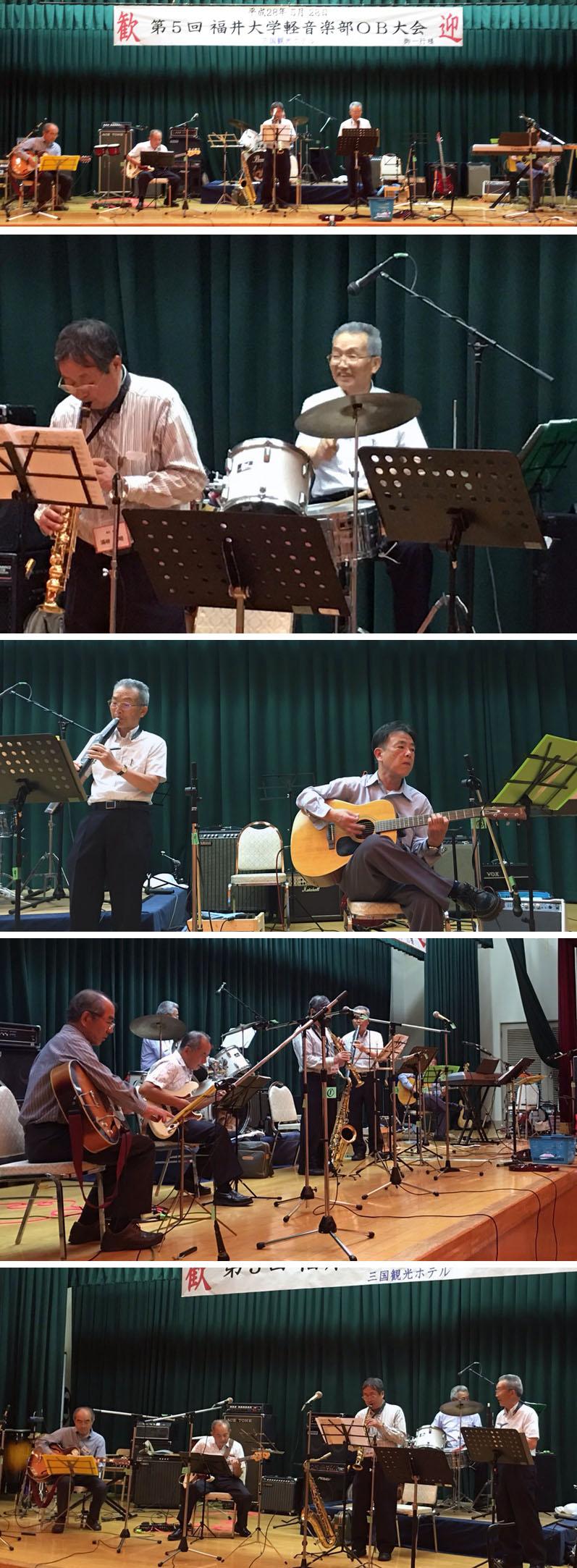 OB会で演奏する「ヤマバンド」