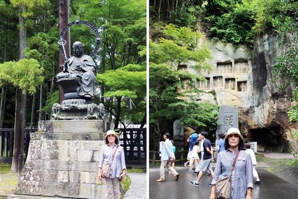 瑞巌寺境内の銅像など
